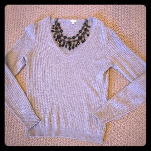 J. Crew | Cable Knit V-Neck Sweater